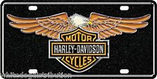 Licensed Harley Davidson Eagle Metal Vanity Car License Plate Auto Tag