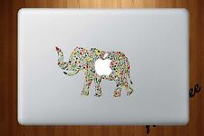 Macbook Air Pro Vinyl Skin Sticker Decal Floral Elephant Flower Art CMAC005