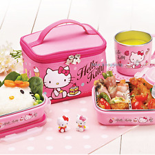 Sanrio Hello Kitty Stainless Steel Bento Lunch Box Food Storage Bag Set