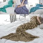 knitted Mermaid Tail Blanket for Adults Teens All Seasons Sleeping Bag 190X90cm