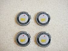 4 only ARNOLD PALMER  US MASTERS TRIBUTE GOLF BALL MARKERS 1958/60/62/64