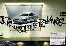 Publicité advertising 2003 (2 pages) Mercedes Classe CLK 55 AMG