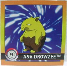 STICKERS ACTION FLIPZ ARTBOX - POKEMON DROWZEE - 96/150 misura cm. 5,1 x 5,1