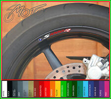 8 x BMW S1000R wheel rim decals stickers - Choice of Colours - s 1000 r sport