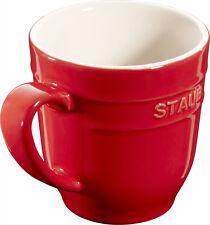 4 Set Staub Céramique Gobelet Tasse à café Tasse rond Rouge cerise 0,35L