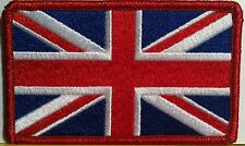 BRITISH Flag Embroidered Patch Union Jack England UK Great Britain Iron-On Red