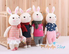 Free Shipping 14'' Stuffed Animal Doll Plush Cute Bunny Rabbit Soft Toy Kid Gift