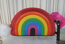 Betsey Johnson Rainbow I Love Hue Crossbody Bag Purse Clutch NWT