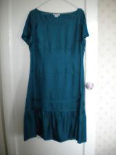 GAP turquoise soie à manches courtes robe taille 18 soirée/demoiselle d'honneur etc