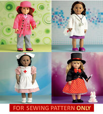 SEWING PATTERN! MAKE DOLL CLOTHES! FIT AMERICAN GIRL MAGICIAN~NURSE~DOCTOR~COAT