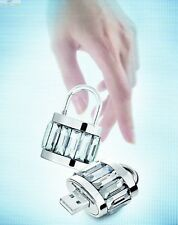Swarovski~Philips~ USB Flash Drive~Memory Key~Clear Crystal LOCK ~ $180