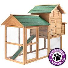 """83"""" Wooden Wood Chicken Coop Hen House"""