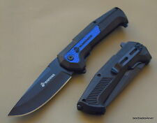 MTECH OFFICIALLY LICENSED USMC SPRING ASSISTED RESCUE KNIFE WITH POCKET CLIP