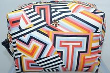 Tory Burch Cosmetic Bag Abstract Printed Make Up Case Small Multi Color NWT