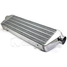 "Universal Aluminum Front Mount Turbo Bar & Plate 21""x5""x2.5"" Intercooler 2.55"""