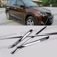 Chrome Car Body Side Door Cover Molding Trim Kit For Toyota RAV4 2013-2016