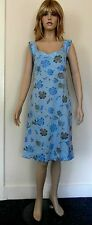 "NEW Pretty Lady Classics Blue Dress with Blue and Grey Florals Size S 34"" BNWT"