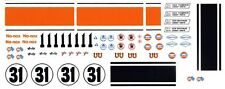 #11 Jerry Titus GULF Mustang 1/64th HO Scale Slot Car Waterslide Decals