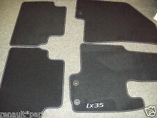 Hyundai Genuine ix35  Velour Luxury Carpet Floor Mat Mats No Slip Clip Black