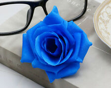 1pcs Romantic Silk Rose Hair Accessory Flower Hairpin Hair Clip For Prom blue