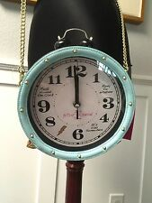 NWT Betsey Johnson Handbag working clock watch alarm blue Bag Crossbody Purse