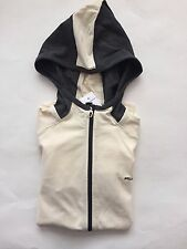 NWT Women's Ralph Lauren Active LS 100%Cotton Hoodie Jacket White Black- X SMALL