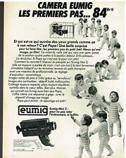 Publicité Advertising 1980 Les cameras Eumig Mini 3