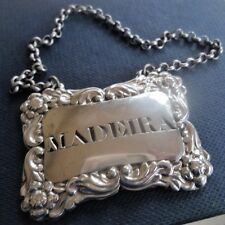 Scottish silver madère decanter wine label c.1820 alexander cameron of dundee