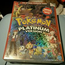 POKEMON PLATINUM VERSION STRATEGY GUIDE AND POKEDEX BOOK RARE FACTORY SEALED NEW
