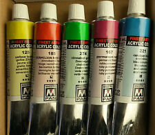 Maestro Pan Quality Artist Acrylic Paint 45ml-5 Tubes Colours of Your Choice