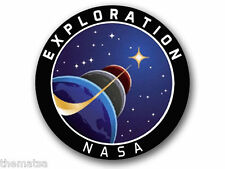 "4""  NASA EXPLORATION SPACE HELMET BUMPER EMBLEM DECAL STICKER MADE IN USA"