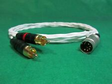 8' FT PURE SILVER PLATED 5 PIN DIN MALE to RCA NAIM NAIT NAC AMPLIFIER CABLE.