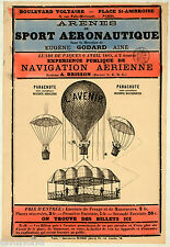 Balloon poster early Art Nouveau French design