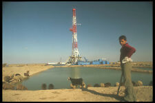 260028 Sheperd And Flock At Oil Rig Iran A4 Photo Print