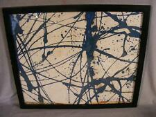 TARO YAMAMOTO ABSTRACT EXPRESSIONIST OIL PAINTING - BLUE WEB 1972 MODERNIST