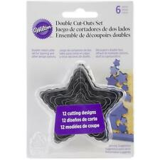 Wilton Nesting Fondant Double COOKIE CUTTERS ~ STARS Set of 6; Pastry Cutter