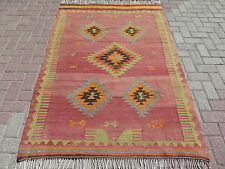"Anatolia Turkish Nomads Antalya Kilim 49,6"" x 75,5"" Area Rug Carpet , Kilim Rug"