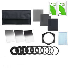 Full+Graduated ND Filter+52mm 58mm 72mm 77mm Adapter Ring+3 cleaning cloths UK