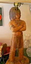 FLORENTINE STUDIOS 1975 CHIEF STANDING BEAR LAMP AMERICAN INDIAN MADE IN USA