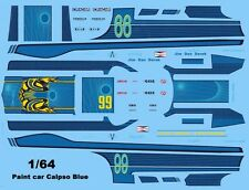 #99 F.A.S.T. Racing Lola T70 1/64th HO Scale Slot Car Waterslide Decals