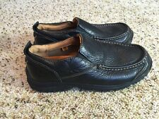 Timberland Mens Shoes 5.5 Black Loafers Leather Slip On Casual Kd1