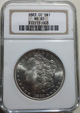 1883-CC MORGAN CC SILVER DOLLAR MS65 NGC CERTIFIED!