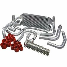 CXRacing Twin Turbo Intercooler Kit For 90-01 Mit. 3000GT GTO Dodge Stealth Red