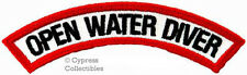 OPEN WATER DIVER CHEVRON SCUBA DIVING iron-on DIVE CERTIFIED PATCH embroidered