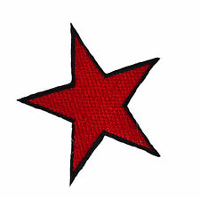 Red Star Iron On Patch alternative retro jacket denim emo patches punk russian