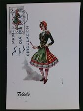 SPAIN MK 1970 COSTUMES TOLEDO TRACHTEN MAXIMUMKARTE MAXIMUM CARD MC CM c6041