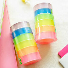 6 pcs/pack Strong Parcel Packing Tape Assorted Color Packaging Clear 12mmx12m