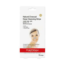[PUREDERM] Natural Charcoal Nose Cleansing Strips - 1pack (10pcs)
