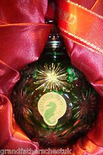WATERFORD LEAD CRYSTAL EMERALD GREEN CHRISTMAS TREE DECORATION BAUBLE ORNAMENT