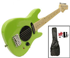 Child's Toy 30' Electric Guitar Built-in Amp - Includes Case & Acc. Kit - Gr